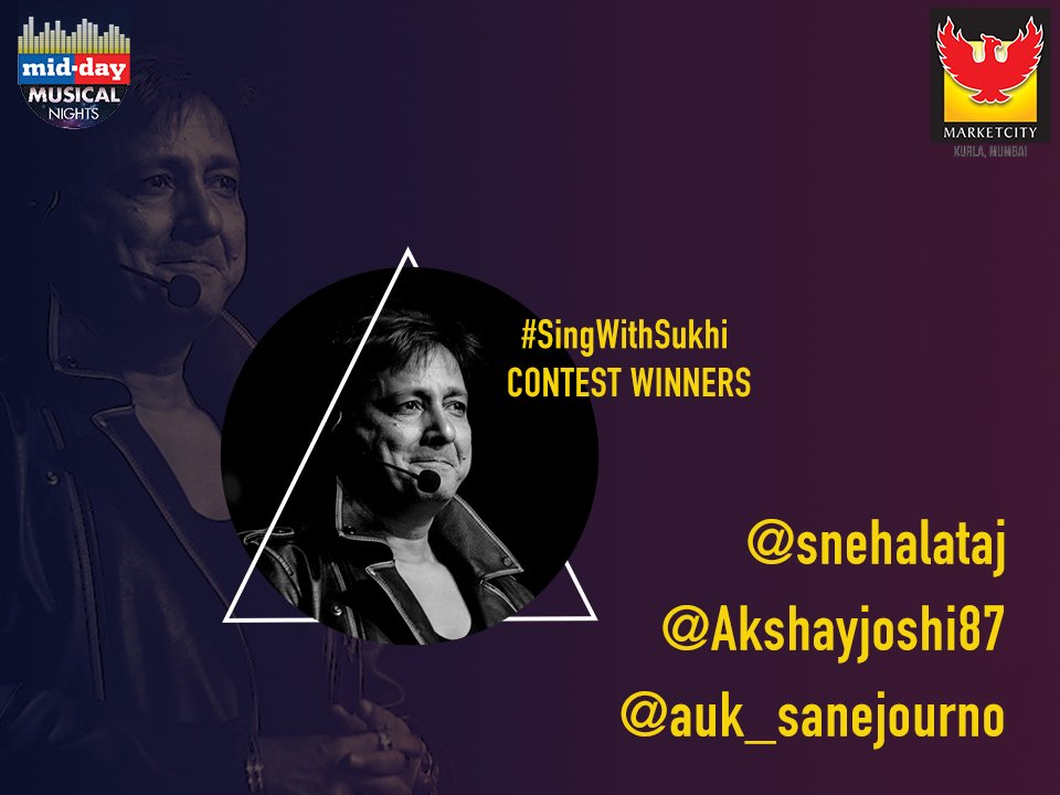 Congratulations to the winners of the #SingWithSukhi contest! Please D...