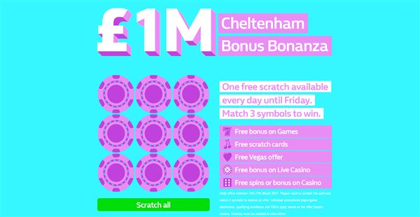 WILLIAM HILL £1 MILLION SCRATCHCARD  Play daily to win free games  htt...