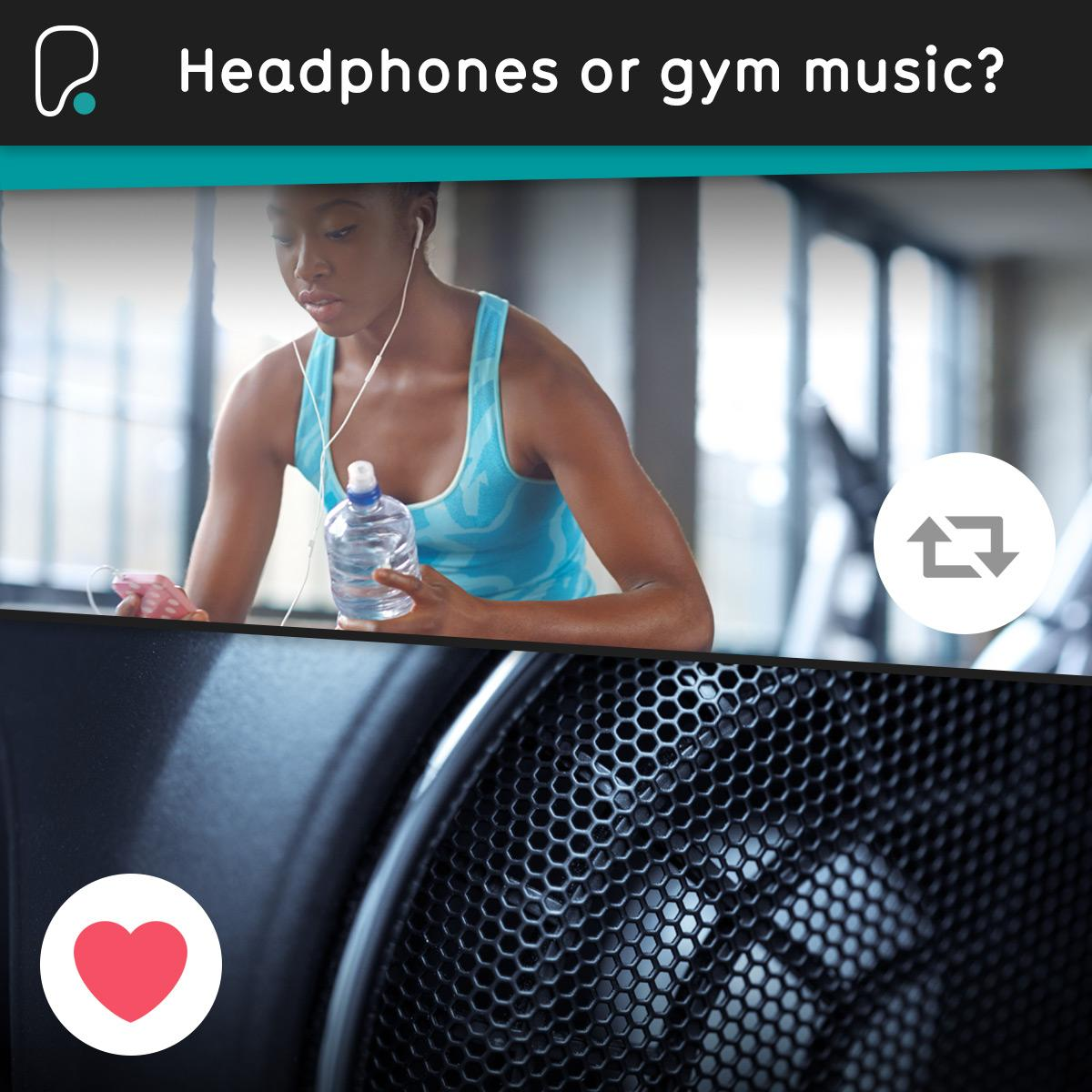 #PureAsk Which do you prefer? Retweet for your headphones, or click 'Love' for the gym music! https://t.co/hP2Vtl9Jl0