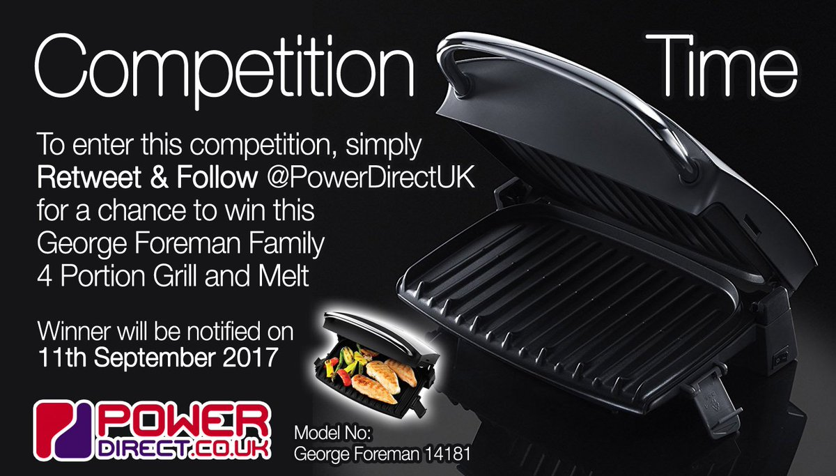 #FreebieFriday! Enter our #Free #Competition #Giveaway for a Chance to #Win a George Foreman Health Grill. #RT &amp; #Follow @PowerDirectUK<br>http://pic.twitter.com/FSF6KD57jr