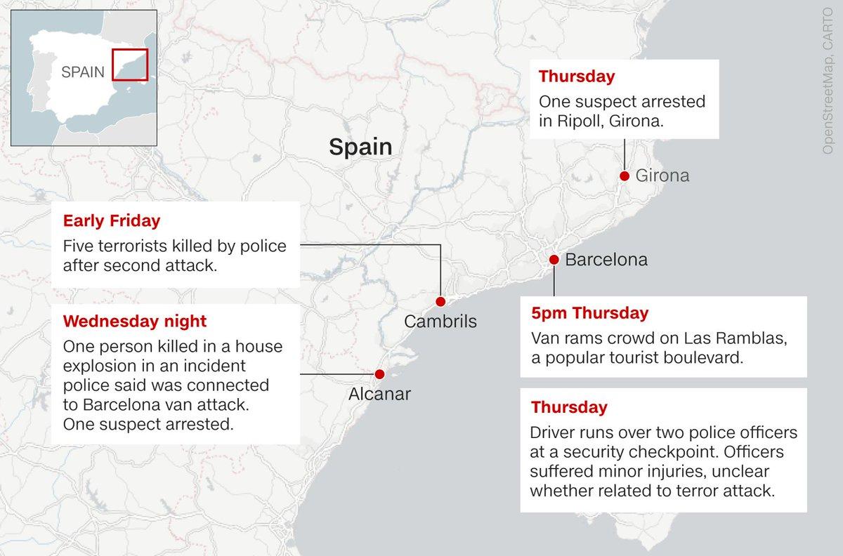 Cnn On Twitter Spanish Police Kill 5 Suspected Terrorists In