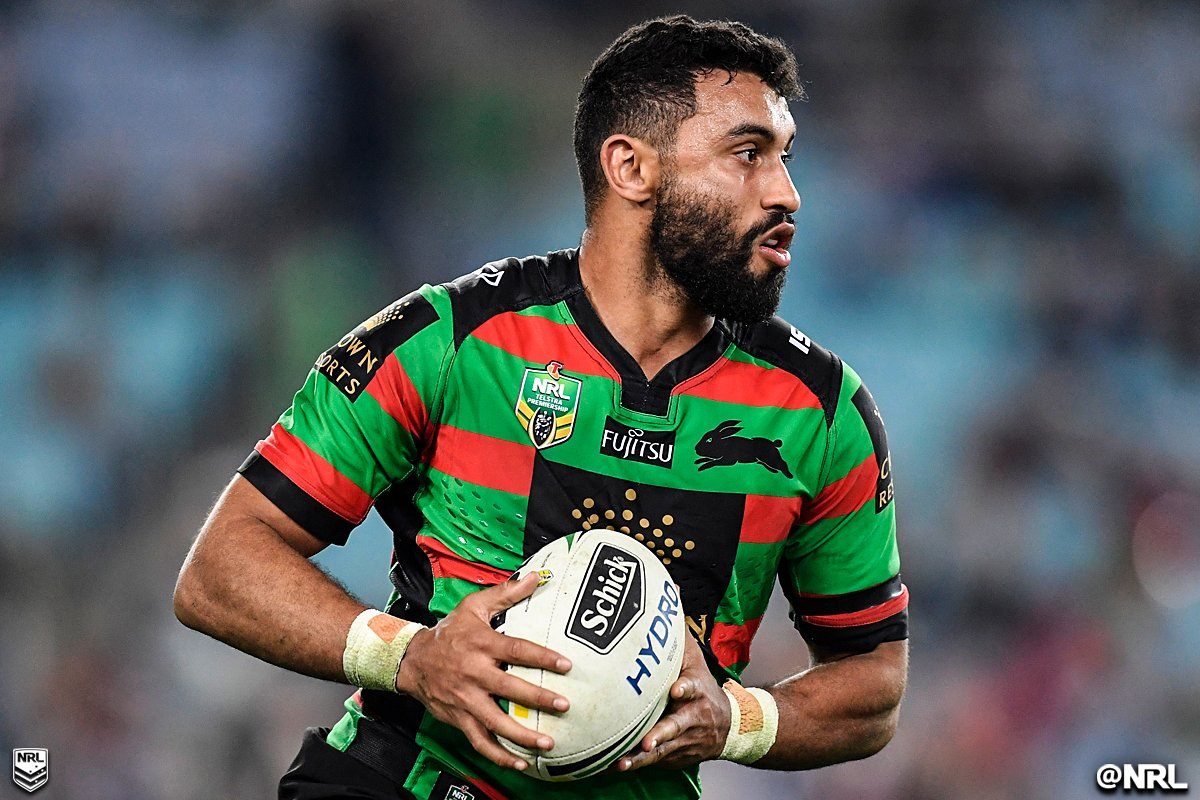 Souths fullback Alex Johnston has scored 14 tries from his past six ga...