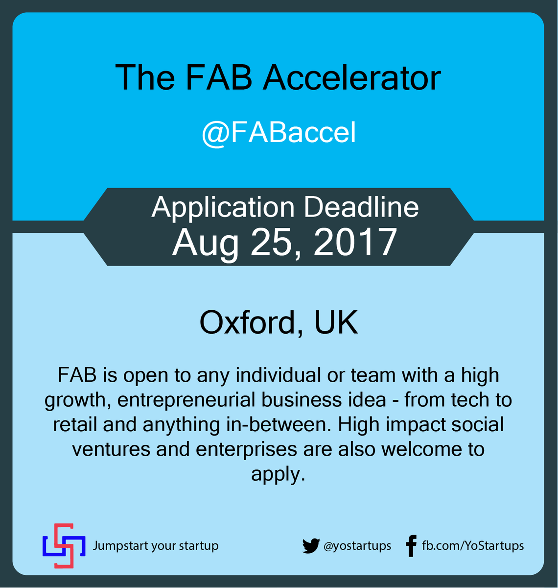 Checkout @FABaccel to raise investment with Oxford&#39;s leading startup programme #accelerator #yostartups  https:// goo.gl/FE7Qm5  &nbsp;  <br>http://pic.twitter.com/BL40F5w4mr