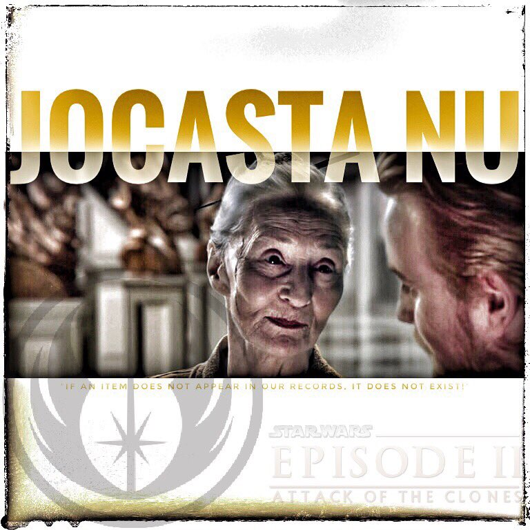 &quot;If an item does not appear in our records, it does not exist!&quot;  #JocastaNu #AttackOfTheClones #StarWars<br>http://pic.twitter.com/mCsJRHDAmM