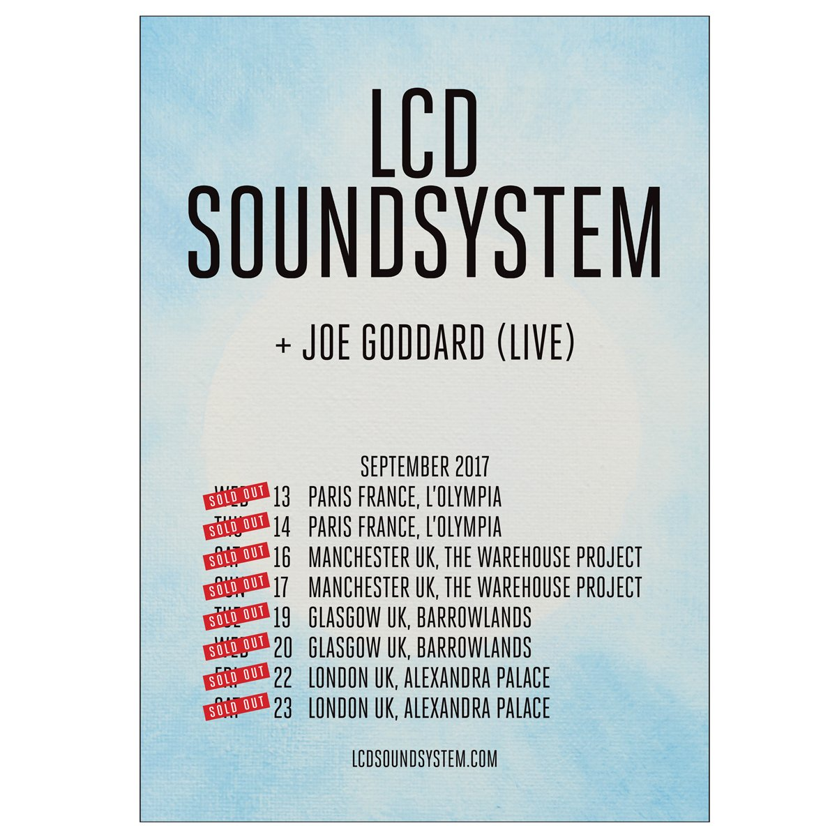 >> Announcing! << I will be supporting @lcdsoundsystem on these Sold Out European Tour dates this September. https://t.co/BqKBpPkGND