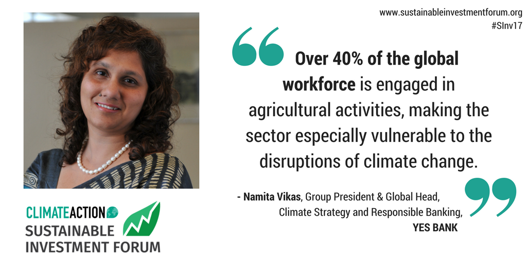 #Banks are also leading #climatefinance and #climateadaptation- read our interview with Namita of @YESBANK  http:// ow.ly/cAM730ety2R  &nbsp;   #SInv17 <br>http://pic.twitter.com/YNLqA0Vbie
