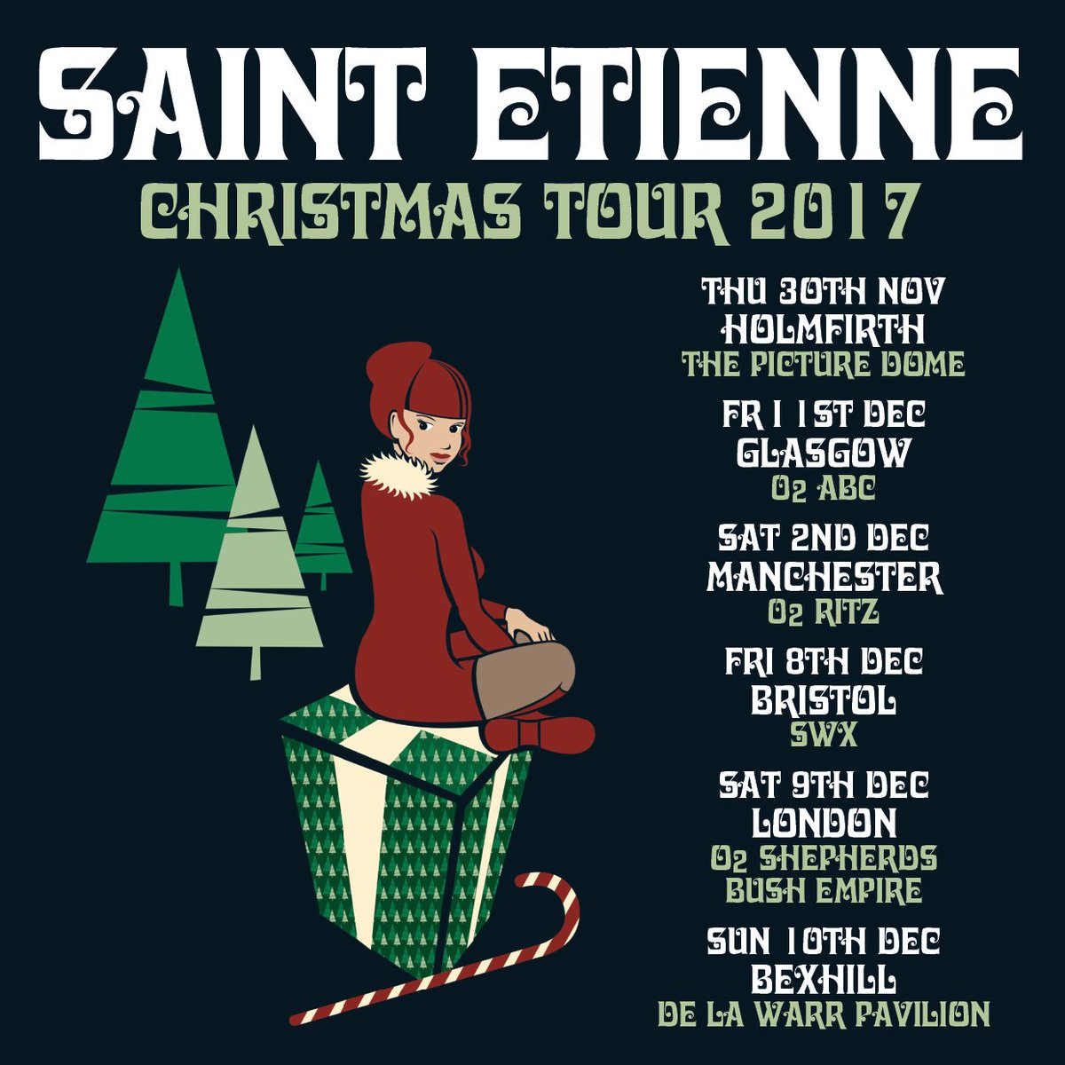 ON SALE//  Tix for #SaintEtienne (@bobpetesarah)&#39;s MCR / LDN show this Dec are on sale now!  HERE:   http:// gigst.rs/SaintEt  &nbsp;  <br>http://pic.twitter.com/WO9q7kGvyj