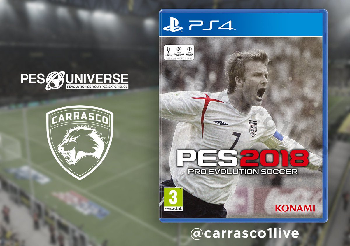 David Beckham Cover for #PES2018 #PESUniverse<br>http://pic.twitter.com/AhrdQyNzqM