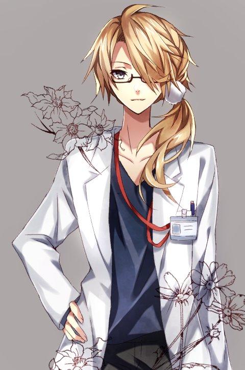「お大事にな」獅子王を担当させていただきました! じっちゃん方に人気のお医者さんです。素敵な企画に参加させて頂き、ありがとうございました~! #刀剣男士お仕事企画