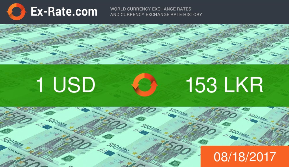 #USD to #LKR exchange rate. #exrate 153.30  https:// ex-rate.com/convert/usd/10 0-to-lkr.html &nbsp; … <br>http://pic.twitter.com/mdRwDd8ekZ