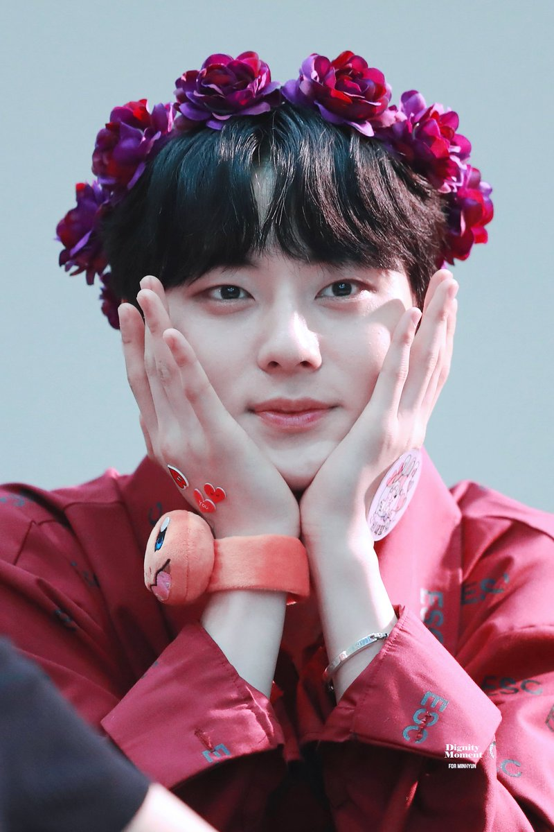 """NU'EST ASIA on Twitter: """"We can't forget how pretty Minhyun with flower crown forever! RT this for #Minhyun… """""""