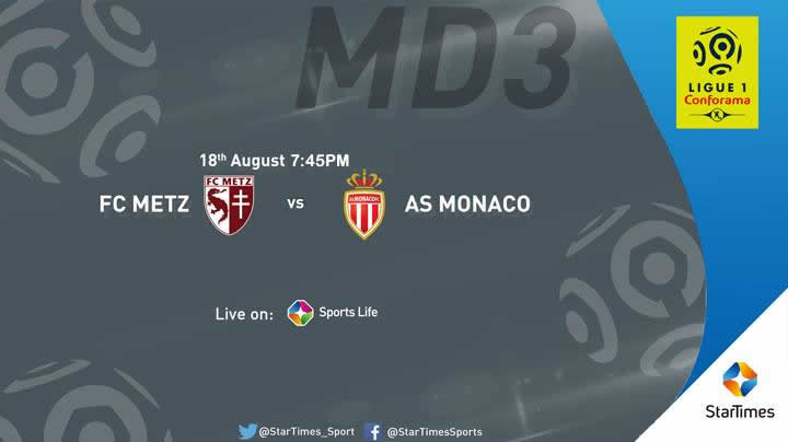 Tonight 7:45PM, #FCMetz hosts #ASMonaco in #Ligue1 MD3 LIVE on #STSportsLife. Note: Other matches are available on #FoxSports &amp; #FOXSports2<br>http://pic.twitter.com/2atCERW3Nq