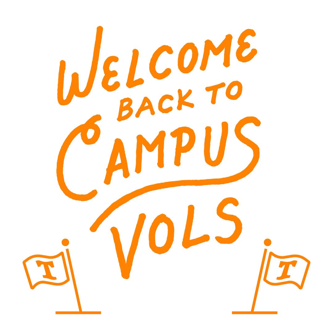We're so excited to welcome all of our Vols back to campus! 🍊🍊🍊#WelcomeVols https://t.co/z5OZwgfazW