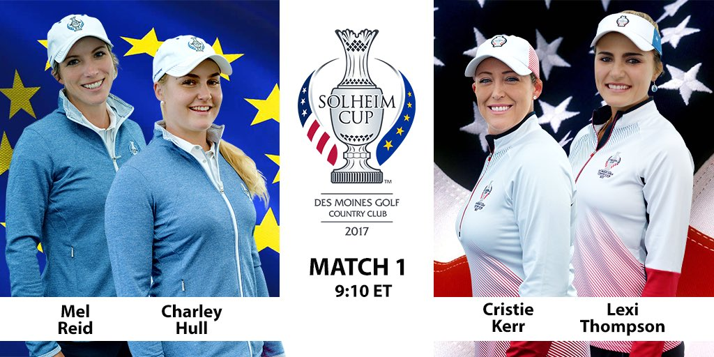 First on the tee to kickoff #SolheimCup2017! @GolfChannel https://t.co...