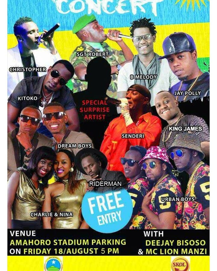 #KagameInauguration After party at #Amahoro stadium, all we invited #Music #dance and Celebration <br>http://pic.twitter.com/xCFsKeX9qu