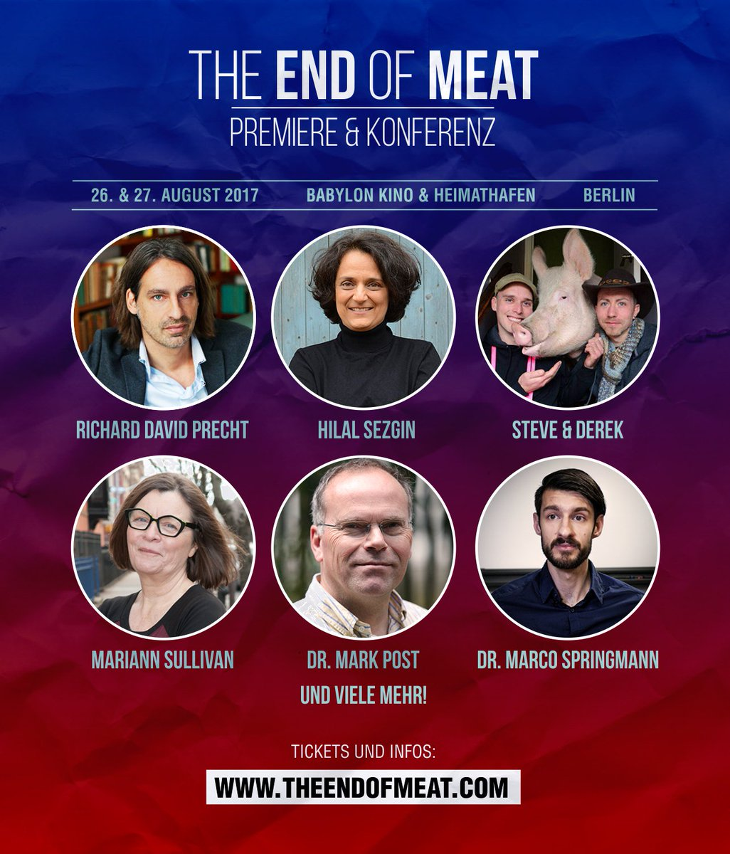 Only one week until our #premiere and #conference in Berlin! We&#39;re so excited! We still have a few tickets left:  http://www. theendofmeat.com/en/premiereund konferenz.html &nbsp; … <br>http://pic.twitter.com/hzCYInoX31