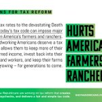 America's hardworking farmers and ranchers deserve a tax code that will allow their businesses and workers to thrive https://t.co/bM92oGT3so