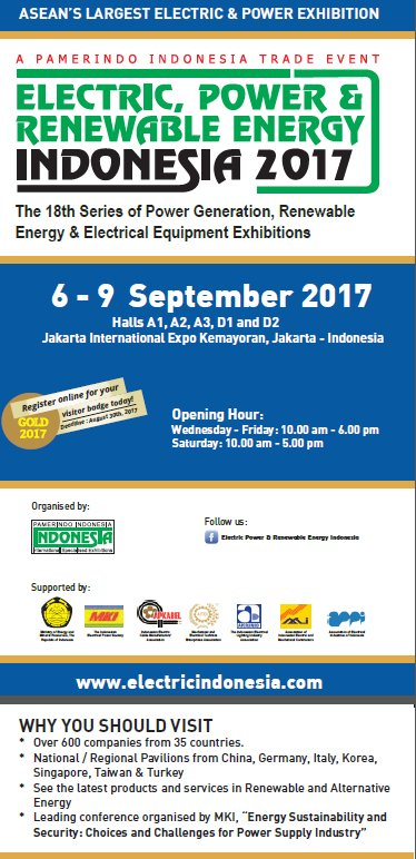 test Twitter Media - Less than 3 weeks until Indonesia's largest #electric #energy event in Jakarta! #exhibition #Asia #power https://t.co/fzew72Hj1Y