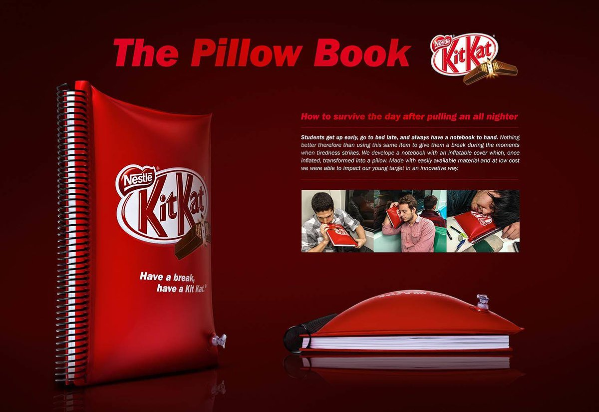 &quot;Pillow Book&quot; by Kit Kat - Join the Future of Marketing:  http:// bit.ly/2rqS6Ck  &nbsp;   #Ads #Advertising #DigitalMarketing #GrowthHacking<br>http://pic.twitter.com/qJNPIVsV4J