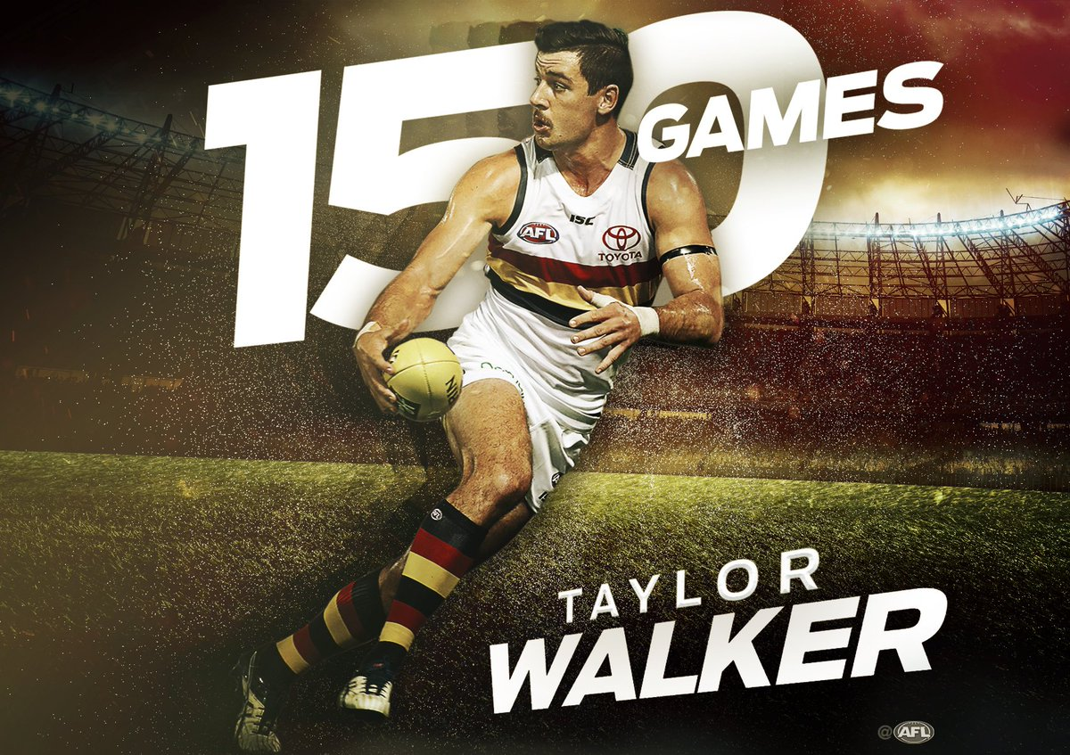 Game 150 for @texwalker13 tonight! 👊🏼 #AFLCrowsSwans https://t.co/MeD5...