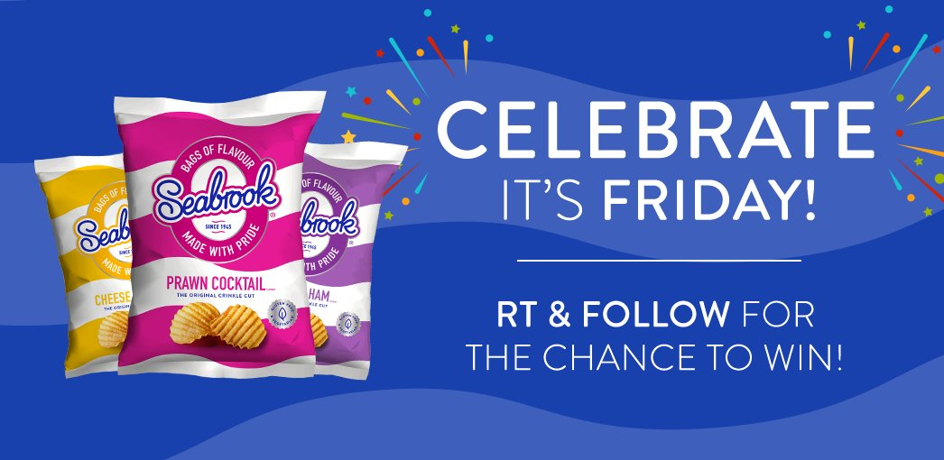 Happy Friday! #RT and follow for the chance to #WIN a box of crisps! #FreebieFriday (UK Only) https://t.co/Jp9ZggHztF