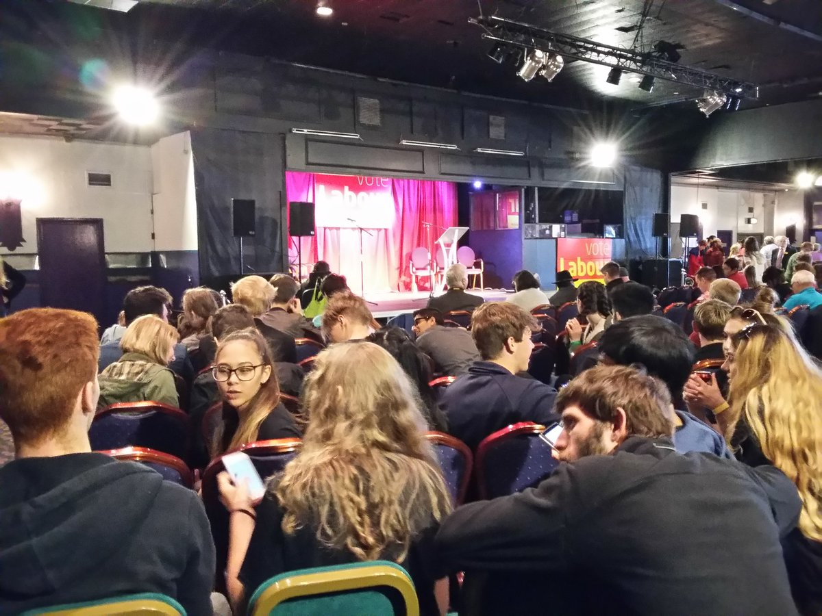 Some of our #NCSLancashire teams who were invited to hear Jeremy Corbyn speak in Morecambe today.  Waiting patiently! #NCS <br>http://pic.twitter.com/4IcC2vMdMe