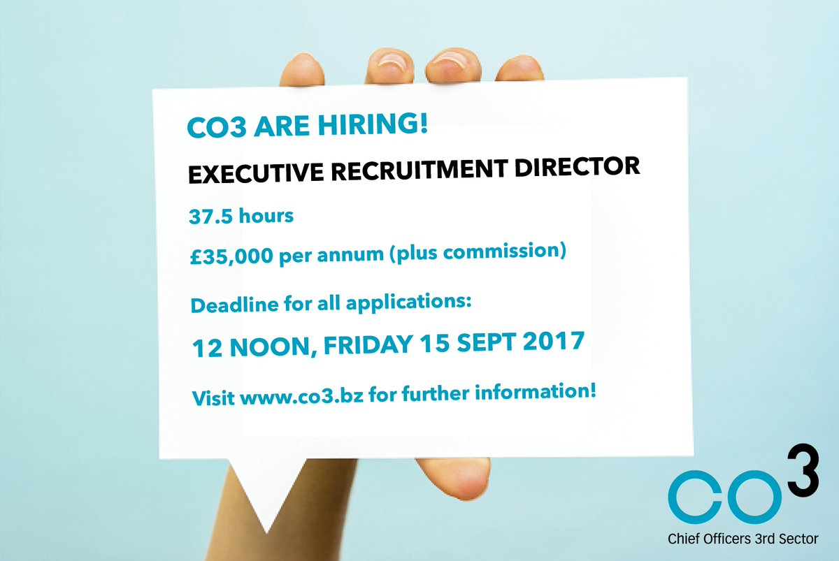 PLS RT: We&#39;re hiring! FT Executive Recruitment Director with CO3. Click  http:// ow.ly/5bLZ30ev9Lz  &nbsp;    #joinus <br>http://pic.twitter.com/zobfDma7pZ