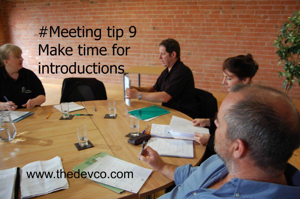 #Meeting tip 9 - make time for introductions. We need to know who we&#39;re working with, and what&#39;s important to them.  http:// bit.ly/2n3hT2f  &nbsp;  <br>http://pic.twitter.com/4IHnjBhRwM