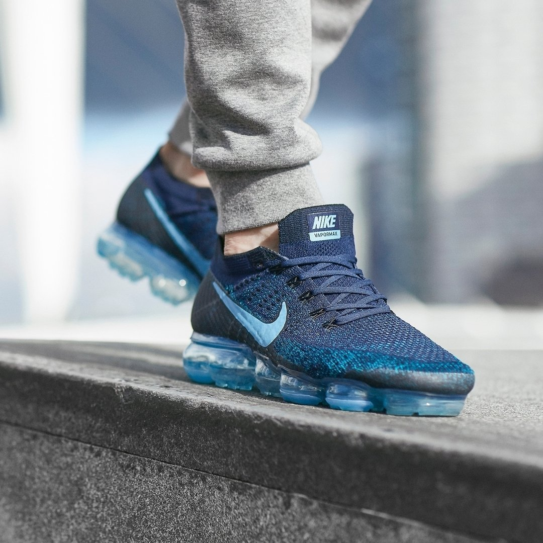 The Nike Air VaporMax Flyknit Navy Blue