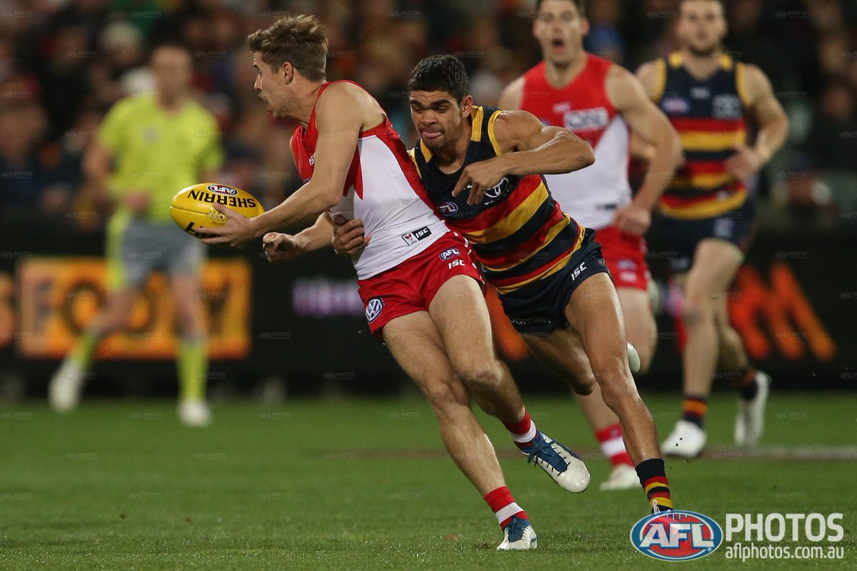 QT: @sydneyswans 5.1 (31) lead @Adelaide_FC 2.2 (14). #AFLCrowsSwans h...