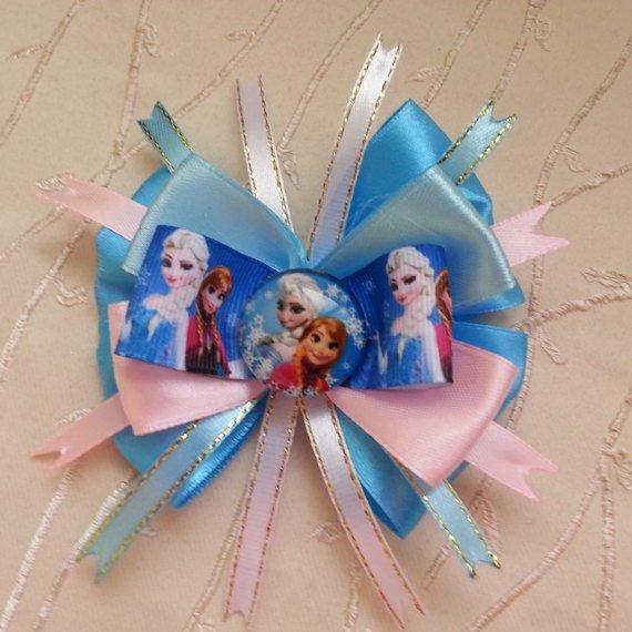 FROZEN Elsa Anna Sister. Hairpin. Amerikansky Bow. #hairpin handmade #Hair #Accessories #watch #belt #weddings  http:// etsy.me/2wgfqJ9  &nbsp;  <br>http://pic.twitter.com/R8ZWlZza9h