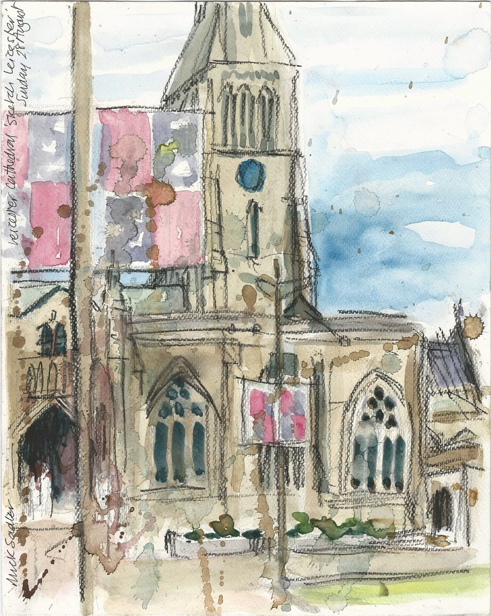 Sketch day in #Leicester around Jubilee Square &amp; @LeicsCathedral grounds with @LeicSketchClub this Saturday! #Free  http:// bit.ly/2vItfOS  &nbsp;  <br>http://pic.twitter.com/WuTFe0ncQv