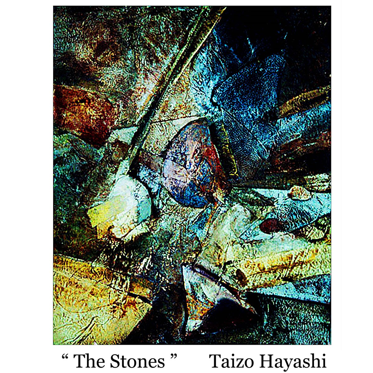&quot; The Stones &quot; Mixtmedia on canvas  Paintings by Taizo Hayashi ; japan #abstractpainting   #canvas #ContemporaryArt  #抽象画 #絵描きさんと繋がりたい #art<br>http://pic.twitter.com/htHpXl9VZv