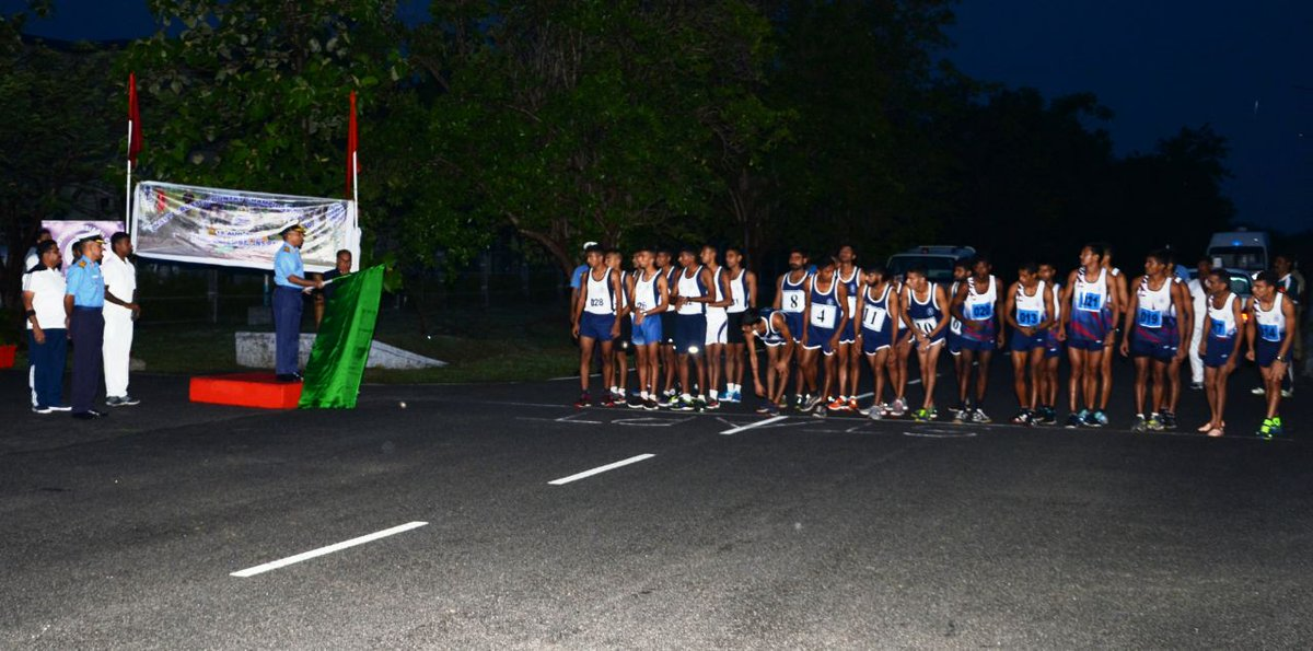 .@indiannavy cross-country championship launched by Flag Officer, TN & Puducherry Rear Admiral Alok Bhatnagar.