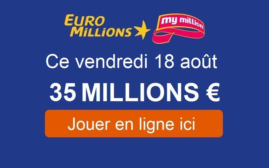 #Euromillions : ce soir, jouez pour 35.000.000€  Jouez votre grille jusqu'à 20h ce soir  https:// tirage-gagnant.com/33817/euromill ions-vendredi-18-aout-2017/  … pic.twitter.com/82FjEIWheT