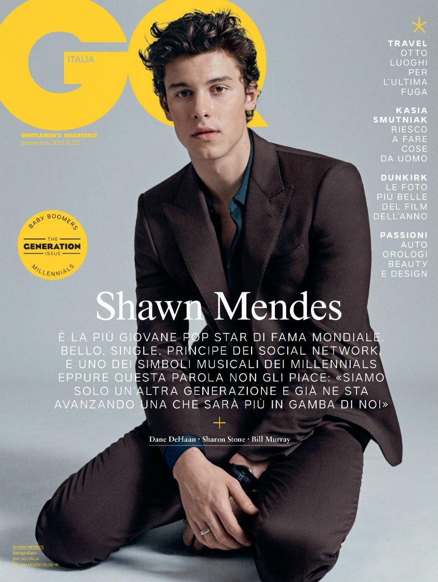 Bello, single, principe dei social network, giovane icona musicale, #ShawnMendes è protagonista di #GQtheGenerationIssue. In edicola