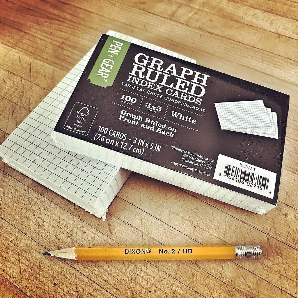 5 x 8 graph index cards