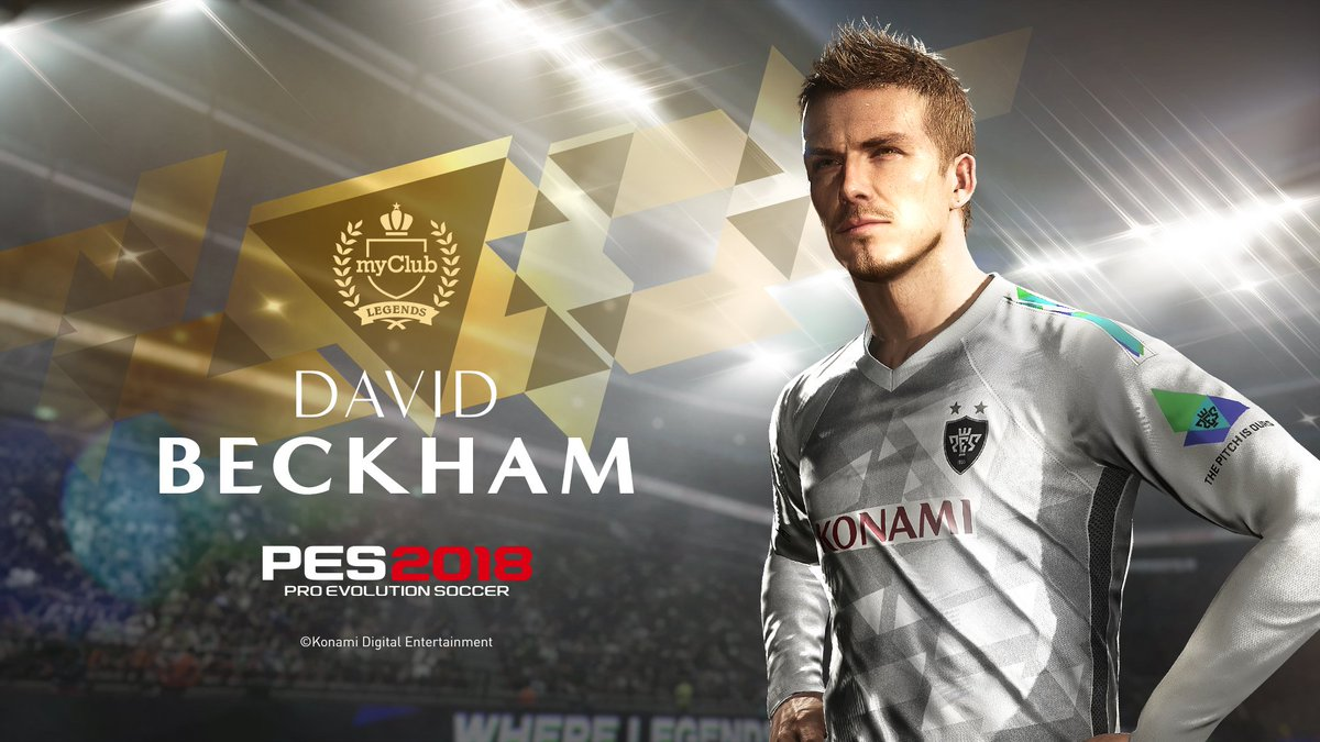 That&#39;s right, David Beckham ONLY in #PES2018. It&#39;s a long-term deal too.    More info:  https://www. konami.com/wepes/2018/eu/ en/ &nbsp; … <br>http://pic.twitter.com/tWE4tV23bF