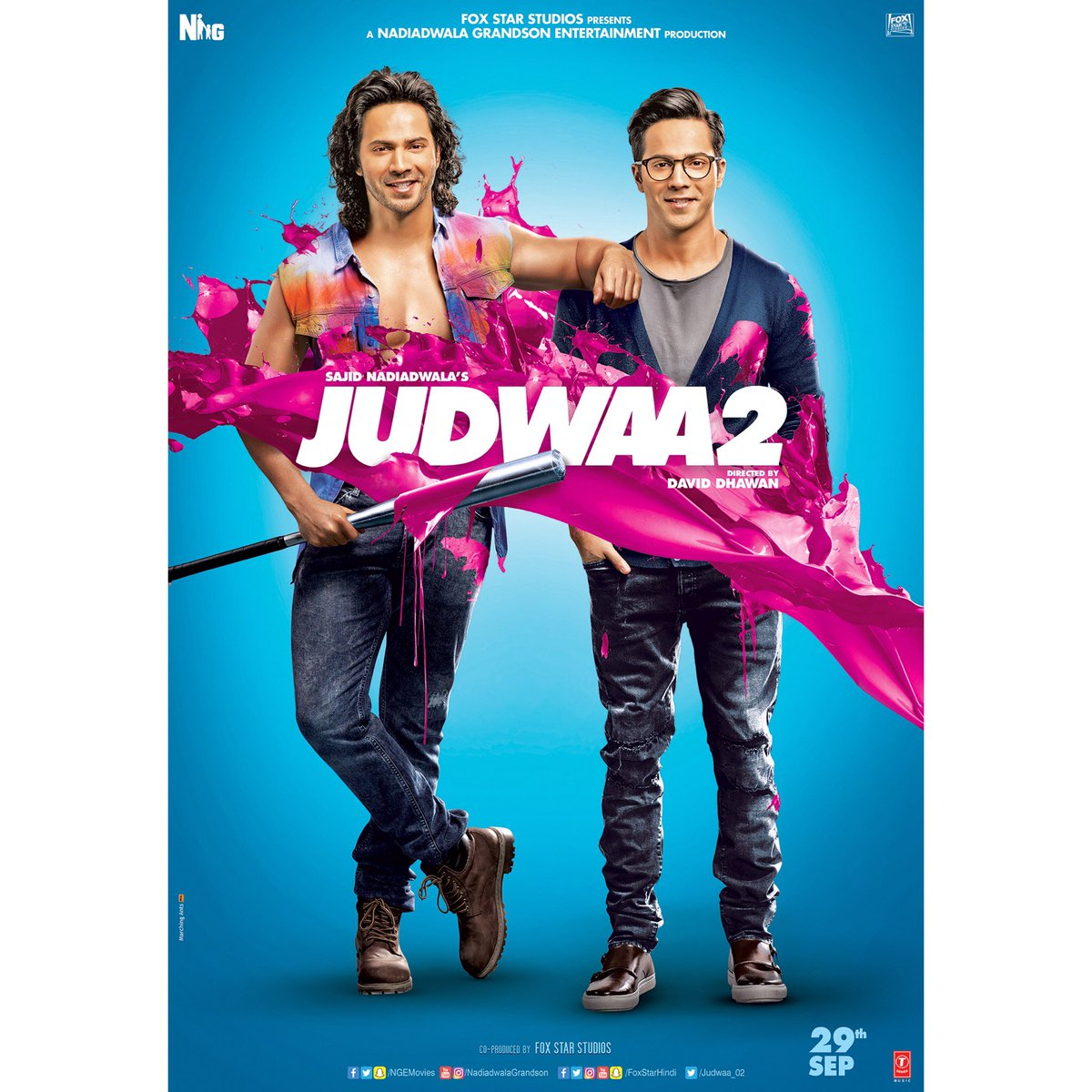 The brand-new poster of #Judwaa2 feat. Prem and Raj! @Varun_dvn https:...