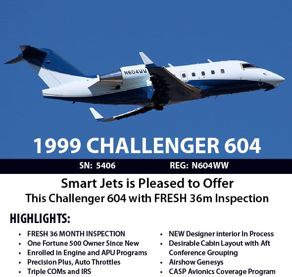 We proudly present this Highly Desirable Challenger 604 with FRESH 36m Inspection. #aircraftforsale #bizav  http:// ow.ly/A1Xr30eaZl3  &nbsp;  <br>http://pic.twitter.com/5oXmXUuDk1