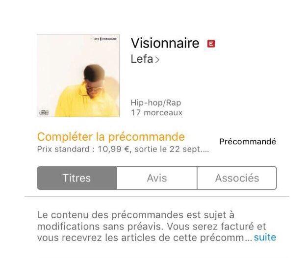 album lefa visionnaire