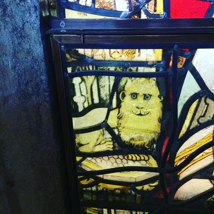 Meanwhile work continues apace @WinCathedral #presbytory #clerestory #onsite #medieval #lion<br>http://pic.twitter.com/VjKPTUEM3W