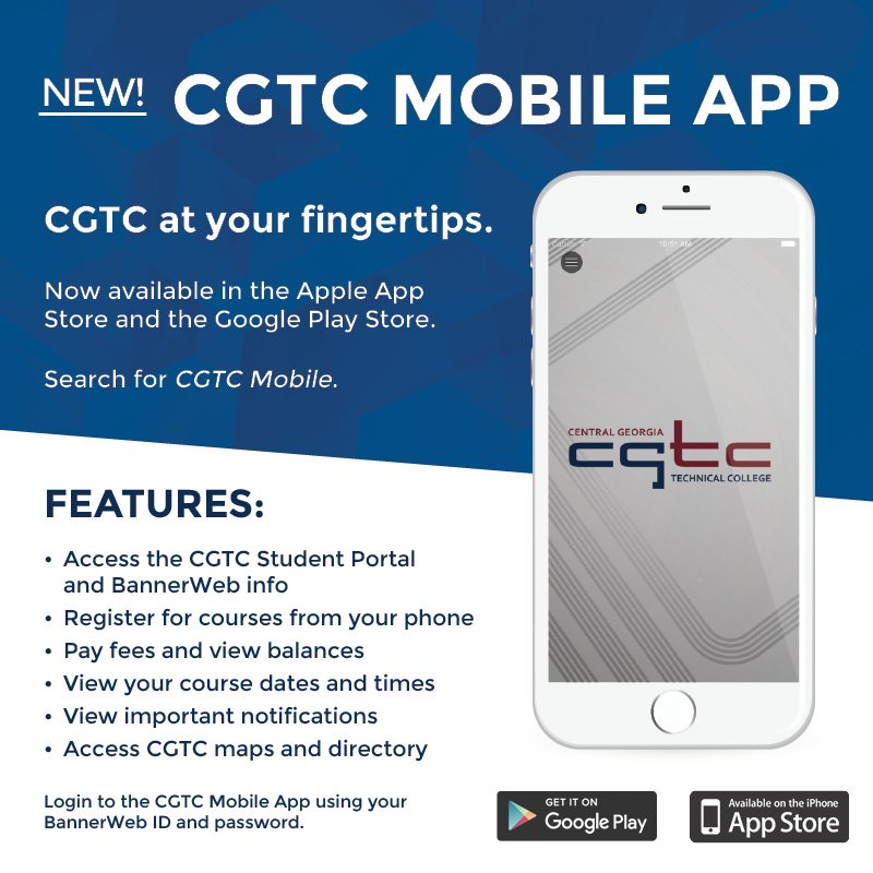 Central Georgia Tech On Twitter Check Out The New Cgtc Mobile App