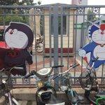 これは酷いw中国の公園でドラえもんと夢のコラボのやばい絵が大量発生!