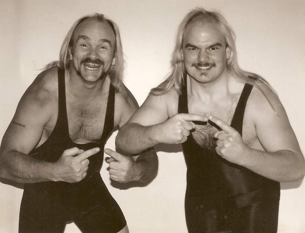 #FlashbackFriday When the Gill Brothers wrecked havoc in the #indywrestling scene in the early 90s ...#wwe #roh #wcw #mcw <br>http://pic.twitter.com/laMdB5b6dP