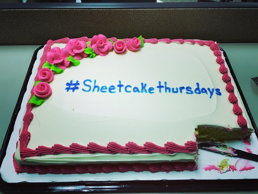 Jan 21, 2016. Out first branded '#sheetcakethursdays.  Hillary Brookly...