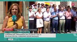 Extremadura se ha unido a la ola de solidaridad y condolencias de toda España con #Barcelona y #Cambrils. https://t.co/WEZHspNTZ9