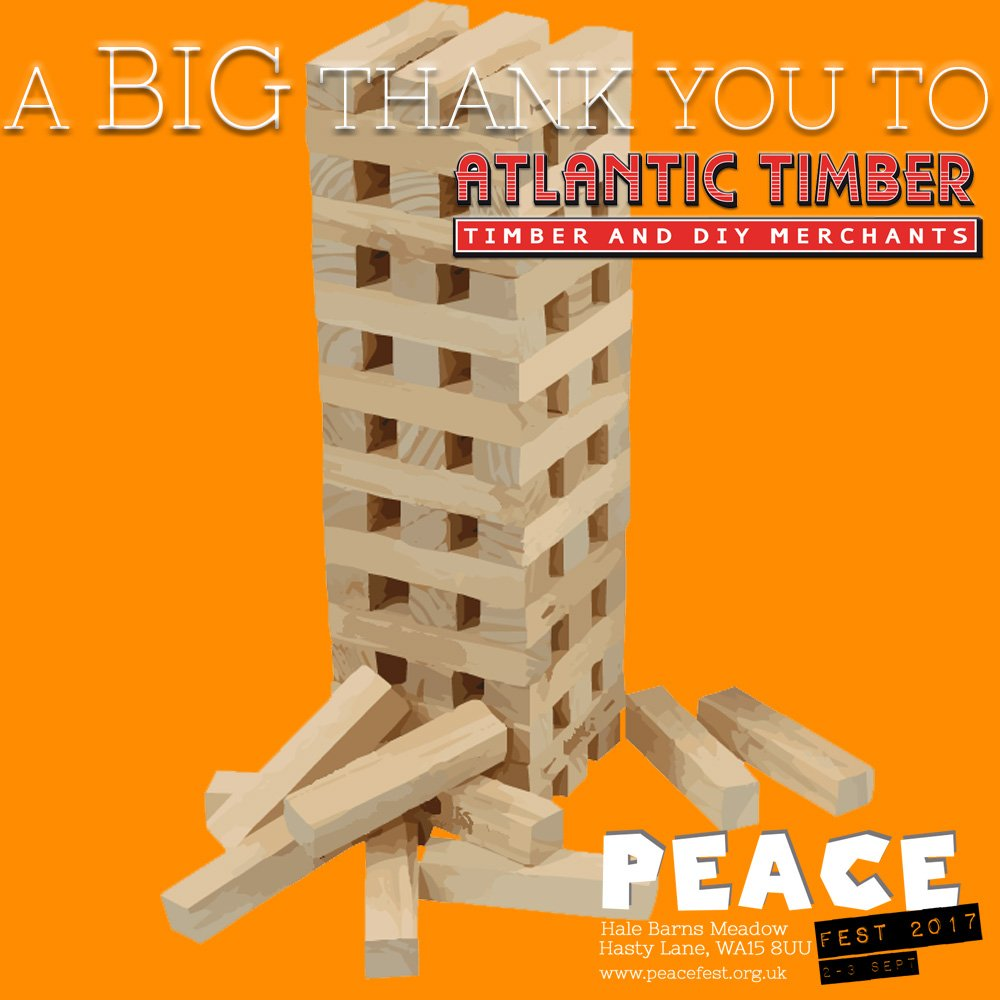 A huge thanks to Atlantic Timber for supported Peace Fest with timber based children&#39;s activities  http:// peacefest.org.uk  &nbsp;   #Altrincham #peace <br>http://pic.twitter.com/UAxQ5oScfx