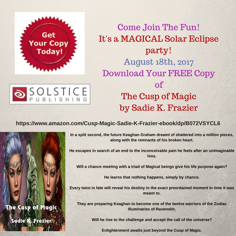 #friyay is finally here! Have you heard? The Cusp of Magic is free today only! Get yours now! @Solsticepublish  https://www. amazon.com/Cusp-Magic-Sad ie-K-Frazier-ebook/dp/B072VSYCL6 &nbsp; … <br>http://pic.twitter.com/VIXEXcmk5s
