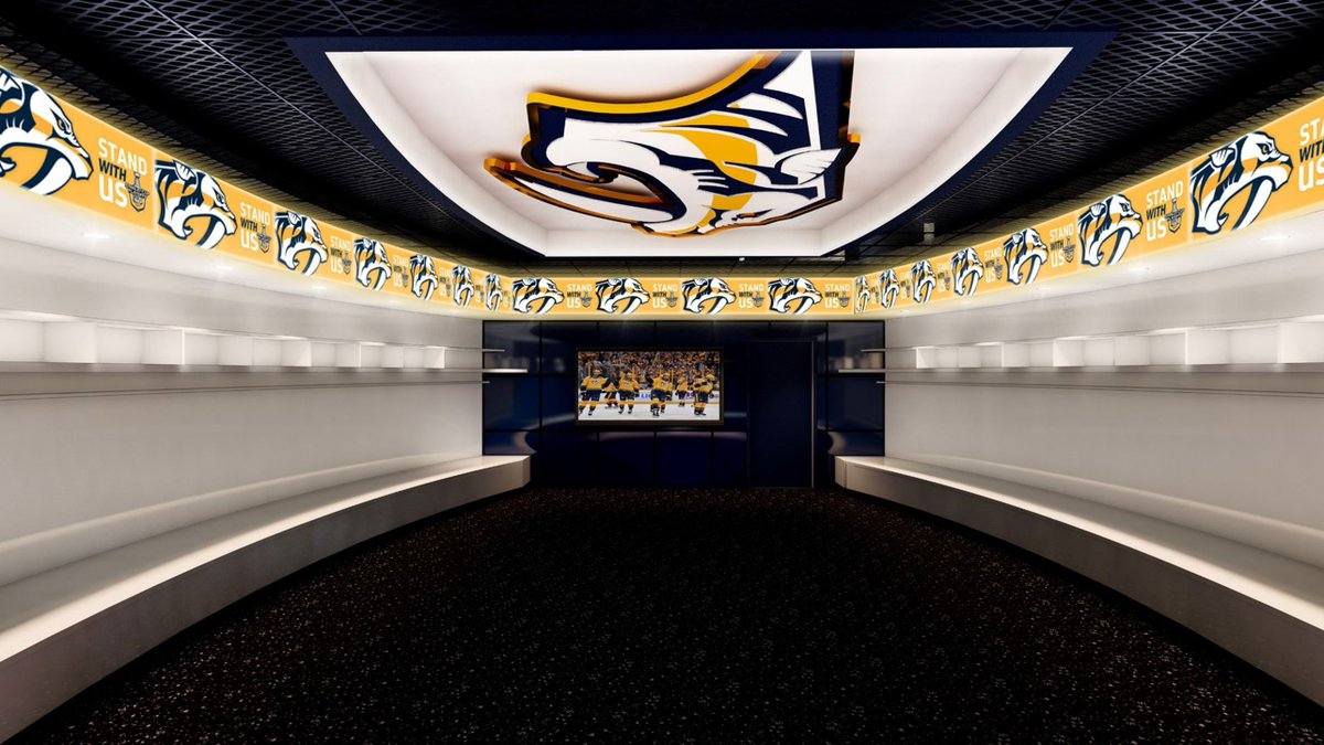 The #Preds new room sure will be easy on the eyes --> https://t.co/...